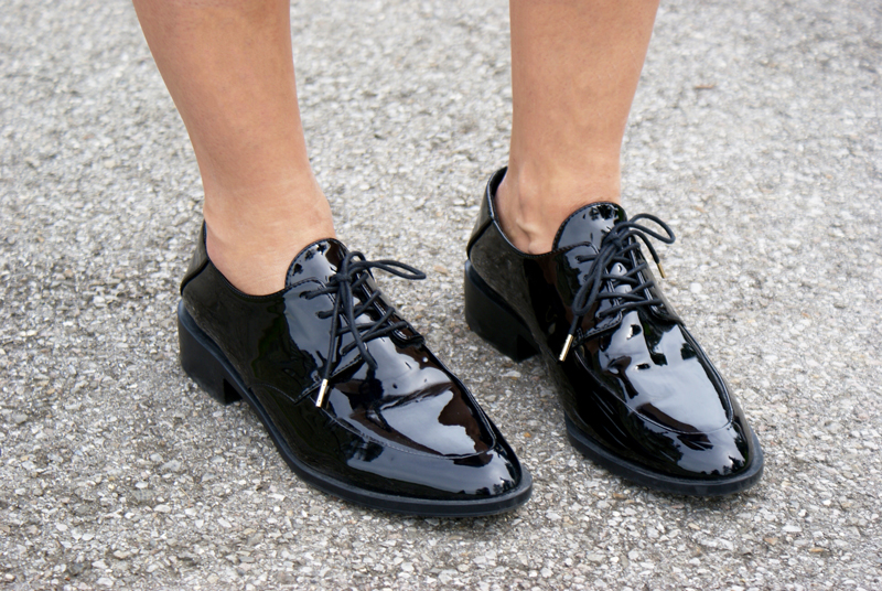 Black patent-leather shoes from Zara