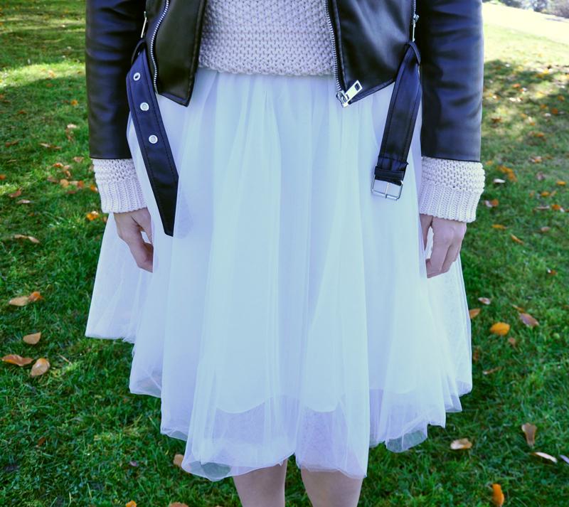 Tulle skirt in white from Tokyo