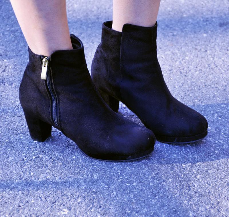 Schwarze Stiefel von Tokio.