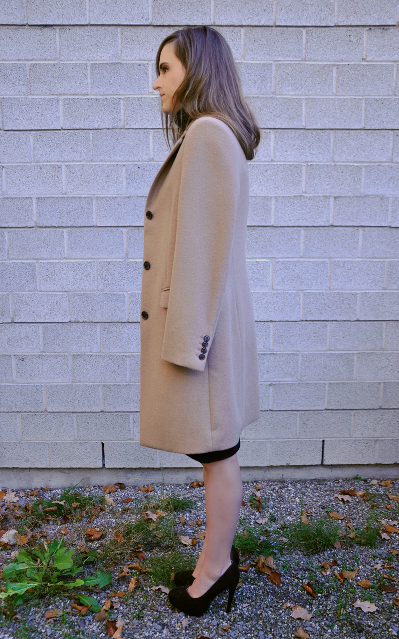 Coat from Uniqlo with shoes from LC Lauren Conrad.