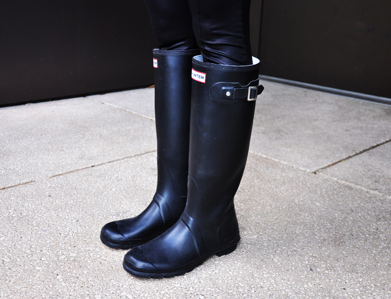 Black Hunterboots.