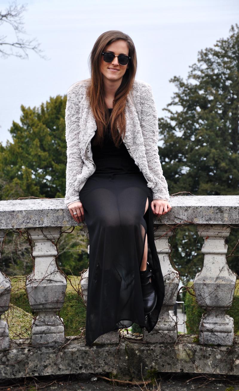 c1d8ae9d84de Grey Long Skirt And Jacket