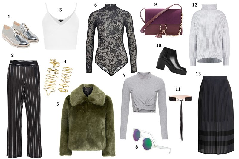 Wishlist for January with Bonprix, Topshop, Zalando, H&M and Zara.