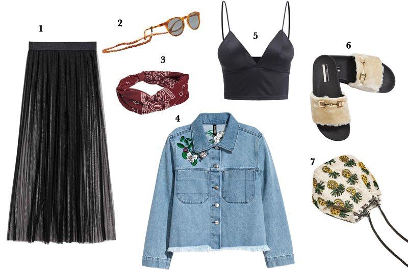 Look für den April passend zur Festival Saison mit Klamotten von H&M, Topshop, romwe.com, Pull and Bear, Zara und viele mehr.