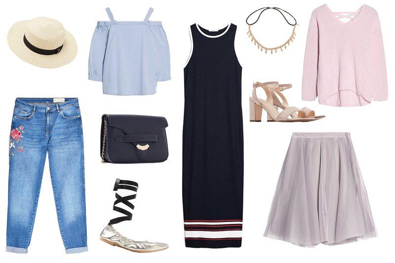 Fashionblogger, Andrea Steiner von Strawberries 'n' Champagne zweigt ihren Look vom Monat Mai mit coolen Produkten von Esprit.