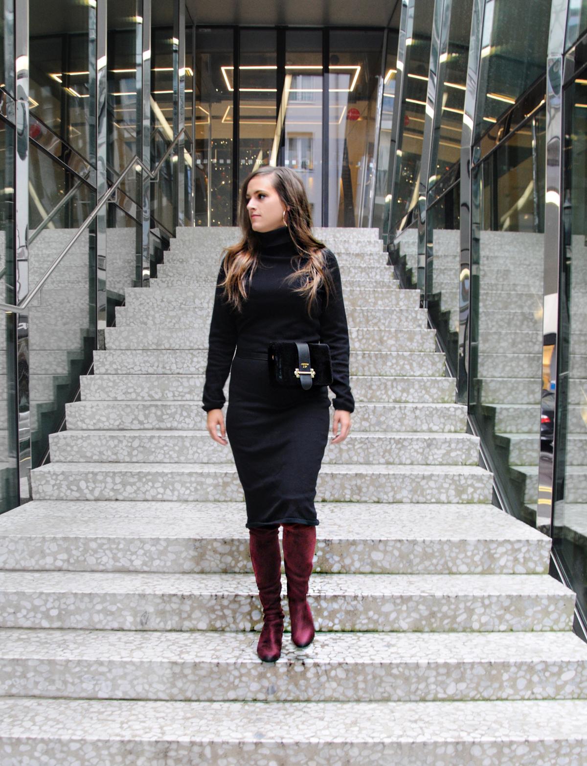 Andrea Steiner Modebloggerin aus Luzern in der Schweiz zeigt auf ihrem Mode Blog Strawberries 'n' Champagne wie Bauchtaschen diese Saison getragen werden.