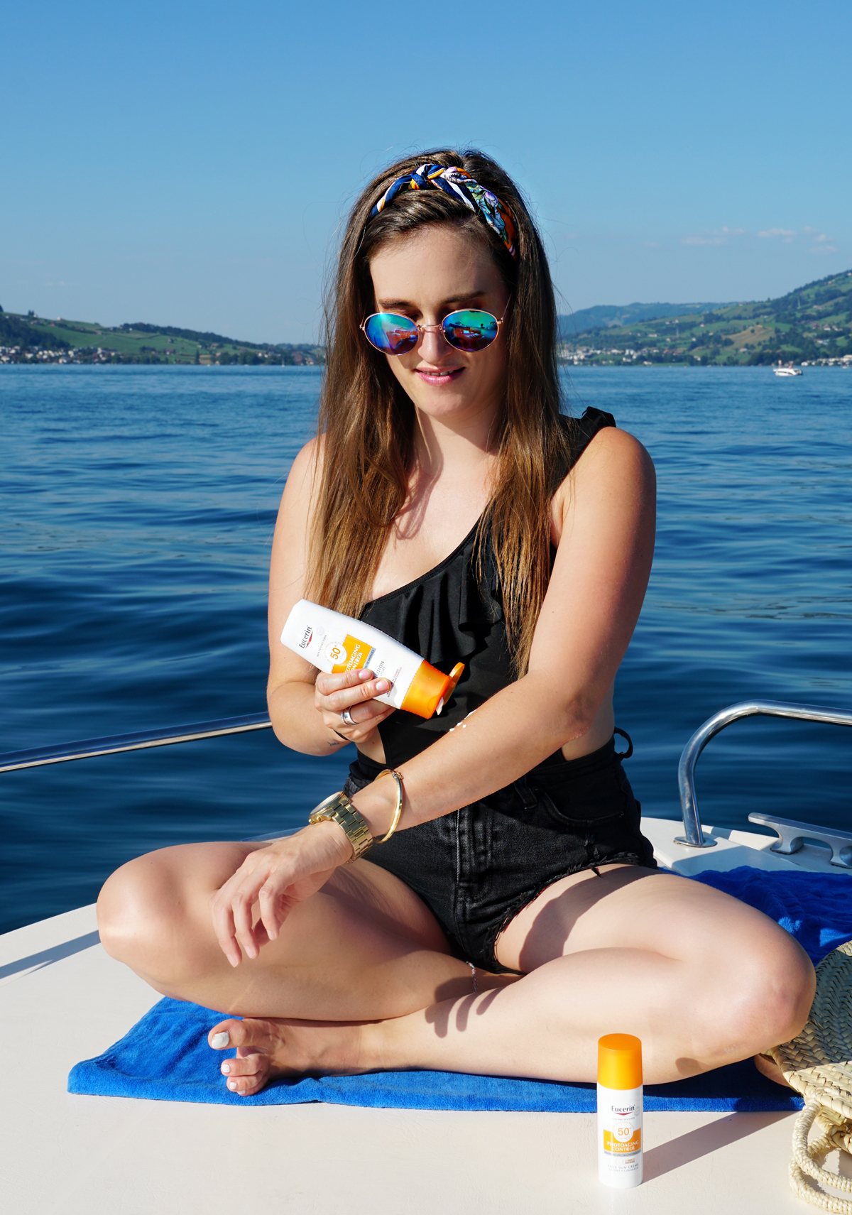 Andrea Steiner, fashion blogger from Strawberries n Champagne tested the Sunprotection Eucerin.
