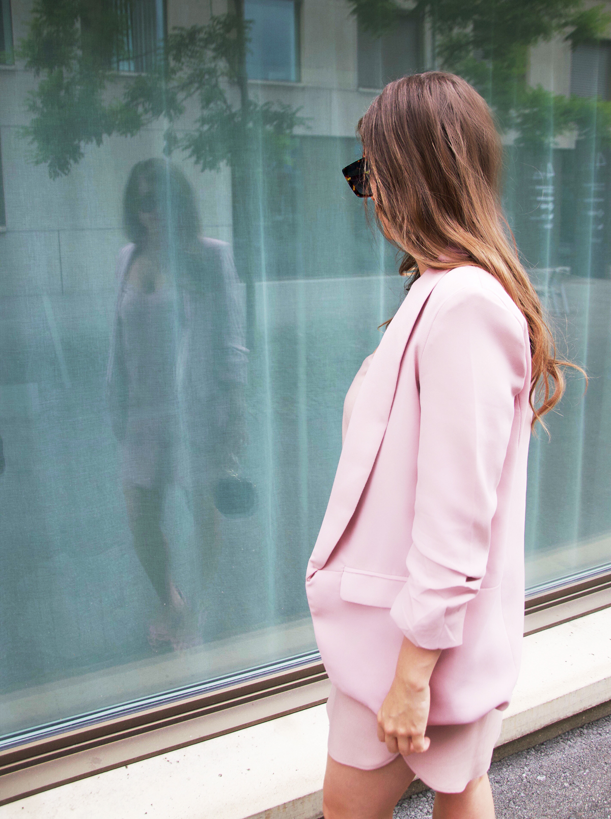 Millennial Pink with a pink Slipdress by ASOS and a pink Blazer by shein.com. Fashion Blog Strawberries n Champagne