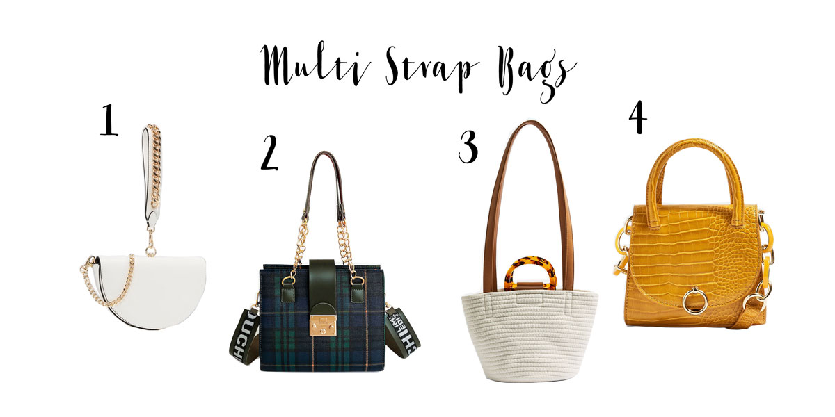 the latest fashion trends for Handbags 2019, fresh from Runway. Here you find Multi Strap Bags.